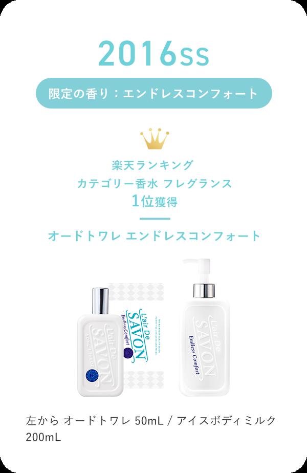 2016SS 限定の香り:エンドレスコンフォート